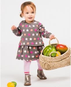 Бебешка памучна рокля Boboli на звезди 6042 020