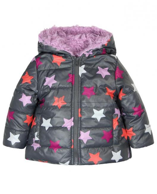 Бебешко зимно яке Boboli с две лица за момиче 6132 020