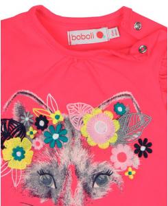 Бебешка блуза Boboli с цветя за момиче 6012 023
