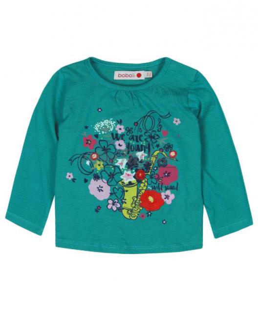 Бебешка блуза Boboli с цветя за момиче 6090 023