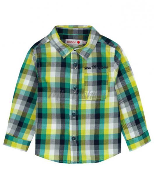 Бебешка карирана риза Boboli за момче 6046 033