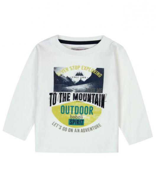 Бебешка блуза Boboli с щампа за момче 6057 033