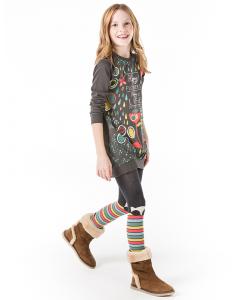 Детска памучна рокля Boboli с щампа 6030 047