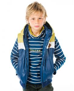 Детска блуза с поло Boboli на райе за момче 6089 050
