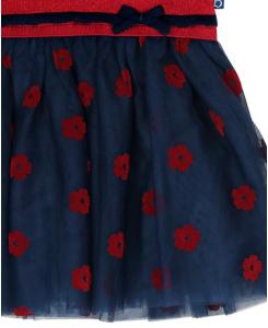 Детска плетена рокля Boboli с пола от тюл 6162 072