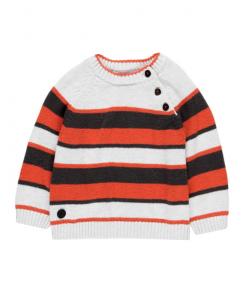 Детски пуловер за момче Boboli на райе