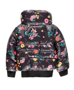 Детско зимно яке за момиче Boboli с цветя
