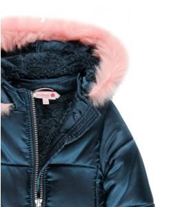 Ватирано зимно яке  за момиче Boboli с пухче