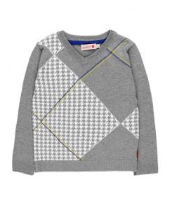 Детски пуловер за момче Boboli с каре