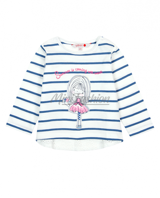 Бебешка блуза Boboli на райе за момиче 207010