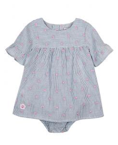 Бебешка рокля Boboli от поплин с гащички 207021
