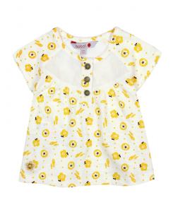 Бебешка тениска Boboli с щампи за момиче 217088