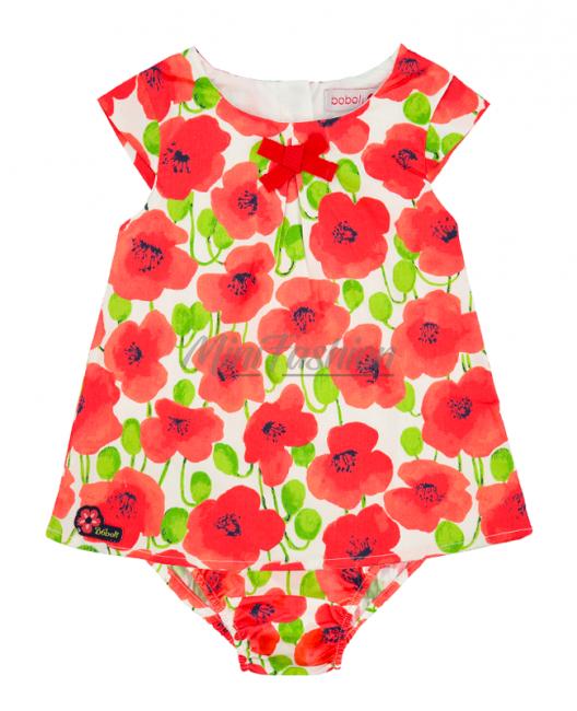 Бебешка рокля Boboli на цветя с гащички 227056