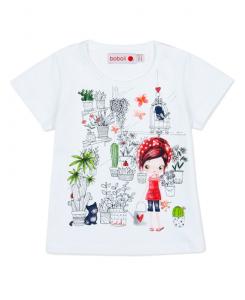Бебешка тениска Boboli с принт за момиче 227102