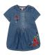 Бебешка дънкова рокля Boboli с бродерии 227124
