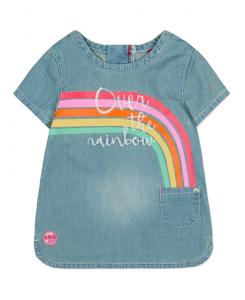 Бебешка дънкова рокля Boboli с кантове 237068
