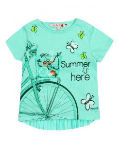 Бебешка тениска Boboli с принт за момиче 247025