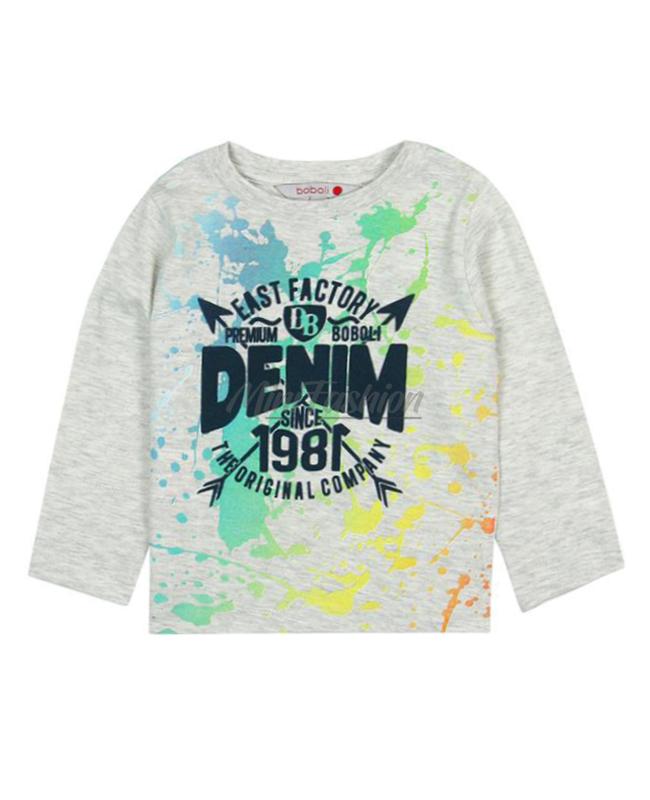 9deed5f028d Бебешка блуза Boboli с дълъг ръкав за момче 337003 | Mini Fashion