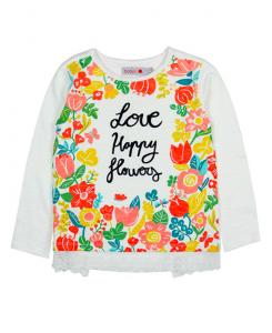 Детска блуза Boboli с цветя за момиче 407001