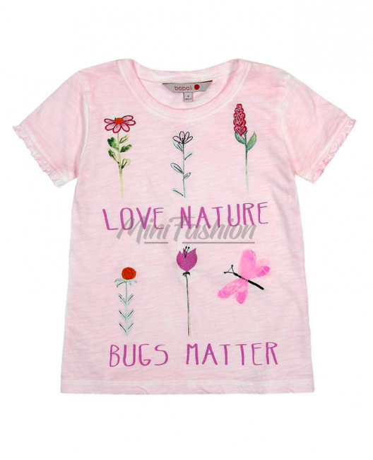Детска тениска Boboli с цветя за момиче 457095
