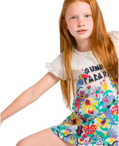 Детска памучна рокля Boboli с апликация 467074