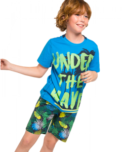 Детски бермуди Boboli с щампа за момче 517159