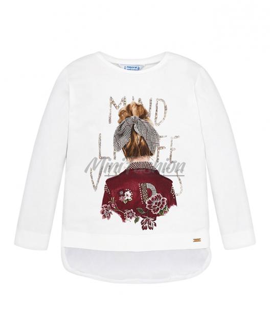 Детска блуза за момиче Mayoral с тюл