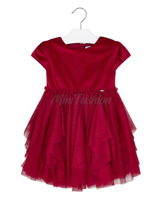 Детска рокля Mayoral с волани от тюл
