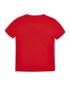 Детска памучна тениска Mayoral с надпис за момче 0170 018