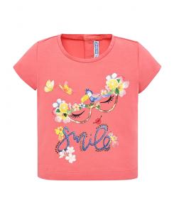 Бебешка цветна тениска Mayoral за момиче 1014 012