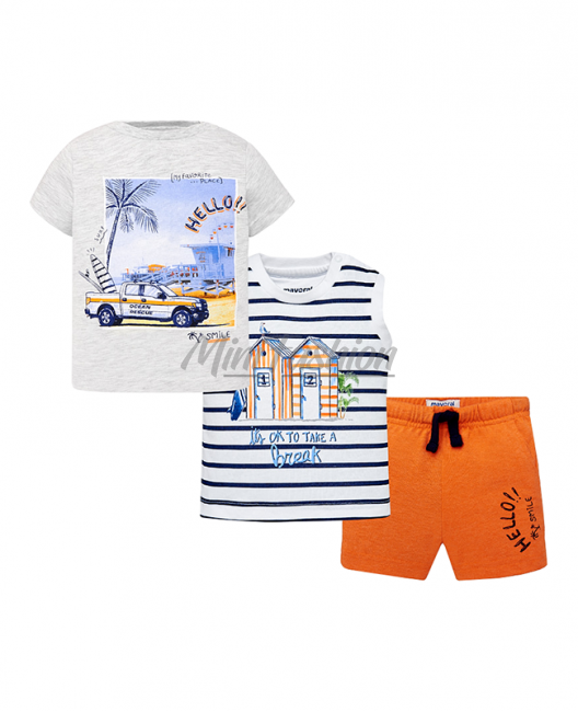 Бебешки летен комплект Mayoral от 3 части за момче 1646 043