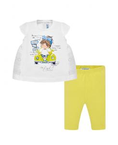 Бебешки комплект Mayoral с туника и клин за момиче 1750 070