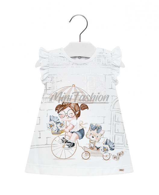 Бебешка трикотажна рокля Mayoral с принт 1937 086