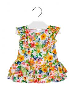 Бебешка рокля Mayoral на волани и цветя 1940 006