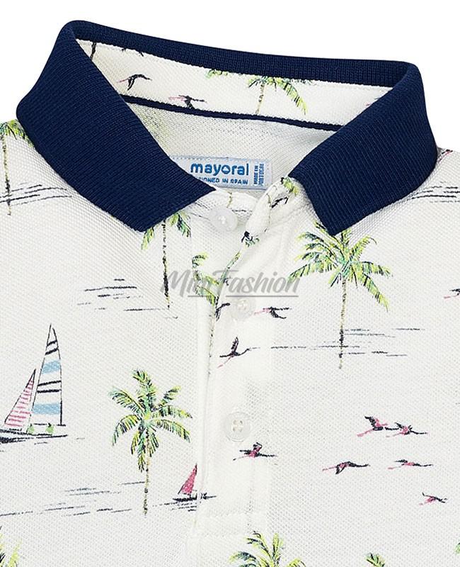 5ea2cddbdc1 Детска тениска Mayoral с яка за момче 3119 010   Mini Fashion
