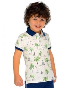 Детска тениска Mayoral с яка за момче 3119 010