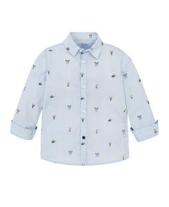 Детска памучна риза Mayoral с дълъг ръкав за момче 3137 079