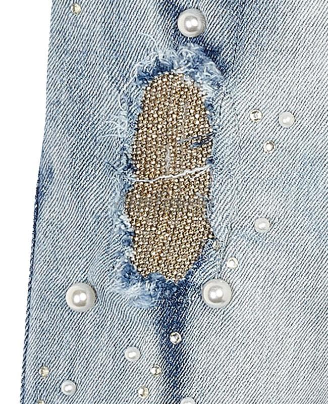 c54b3051a7f Детски дънки Mayoral с перли за момиче 3503 045 | Mini Fashion