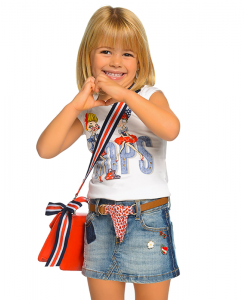 Детска памучна тениска Mayoral за момиче 3006 048