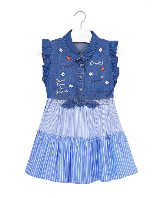 Детска дънкова рокля Mayoral 3937 005