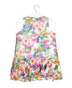Детска шифонена рокля Mayoral на цветя 3941 027